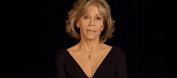La actriz Jane Fonda recordando a Brenda Lee Marquez