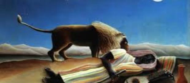 """The Sleeping Gypsy"" by Henri Rousseau Creative Commons"
