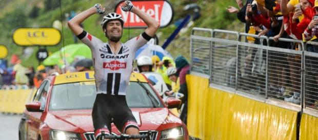 Triunfo de Tom Dumoulin en la 9ª del Tour de Francia, que asistió al adiós de Contador