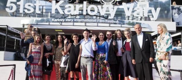 Węgierska ekipa na festiwalu w Karlowych Warach. Fot. kviff.com