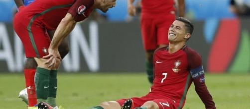 Cristiano Ronaldo - Lesión durante la final