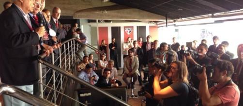 Em São Paulo, dirigentes se reúnem para discutir o futebol brasileiro (Foto: Band)