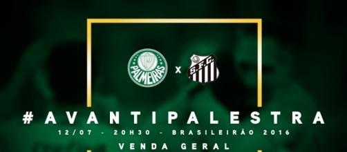Palmeiras x Santos é clássico tradicional do futebol paulista