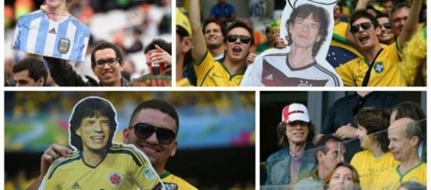 Azarão Mick Jagger, na Copa do Mundo de 2014