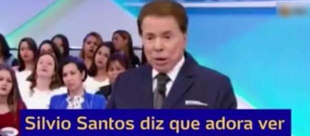 Silvio Santos brincou com convidada (Reprodução/SBT)
