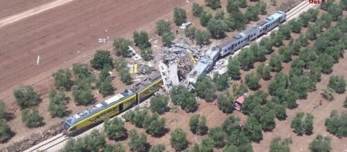 Incidente ferroviario in Puglia. Foto: Ansa.it