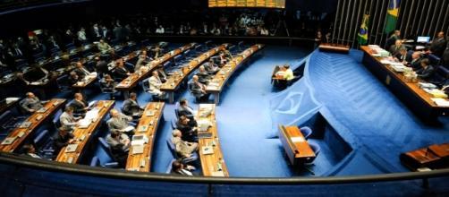 Sessão no Senado Federal (Foto: Blog do Mario Flavio)