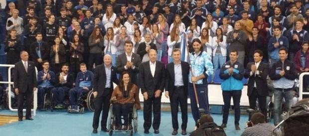 El Presidente Mauricio Macri despidió a la delegación argentina que competirá en los JJOO de Río de Janeiro