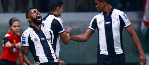 Gabigol marcou o gol de empate do Peixe no segundo tempo do clássico paulista