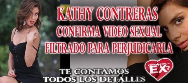 Kathy Contreras confirma video sexual