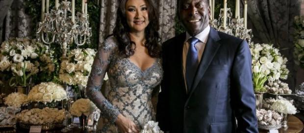 Pelé se casó por tercera vez con su novia desde 2010