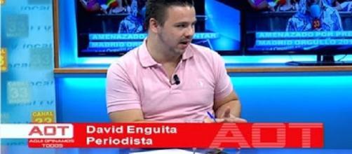 David Enguita en Canal 33 dando su entrevista