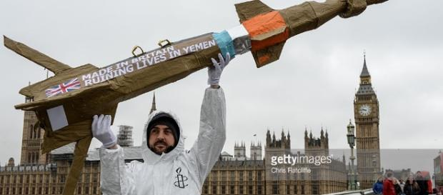 Amnesty Protest Against Arms Sales To Saudi Arabia | Getty Images - gettyimages.com