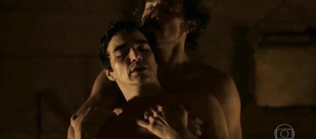 Cena gay exibida na novela da Globo