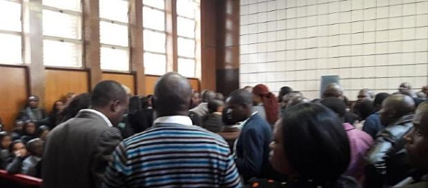 Court jammed to standing room only / Screencap via #ThisFlag Twitter @simonallison
