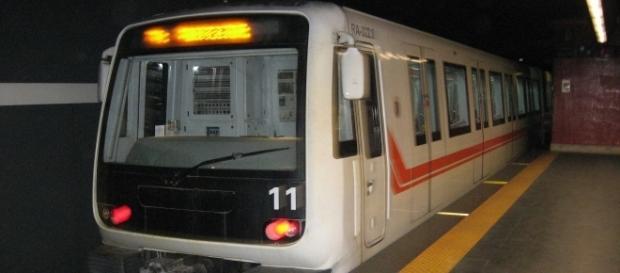 Il convoglio della Metro A di Roma
