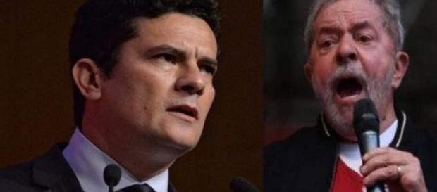 Sérgio Moro e Lula - Foto/Reprodução: Google