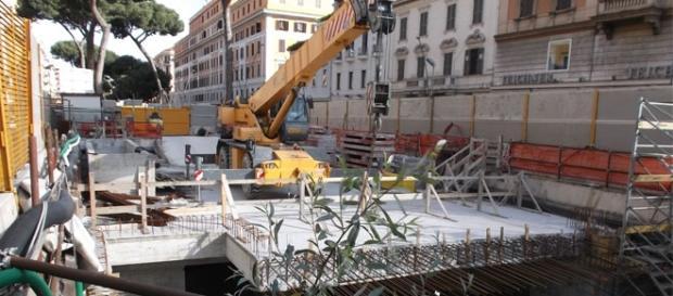 Uno dei tanti cantieri della Metro C di Roma Capitale