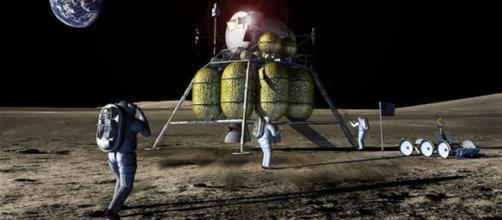 Furure astronauts on the moon (NASA)