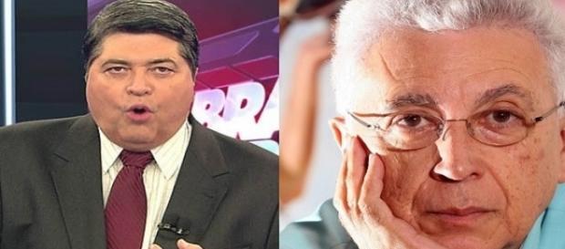 Datena rebateu as críticas gratuitas de Aguinaldo (Foto: Divulgação/Veja)