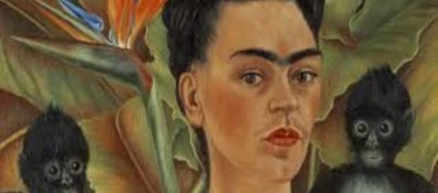 Frida Kahlo's Self-Portrait With Monkeys Creative Commons