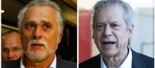 Genuíno e José Dirceu - Foto/Montagem