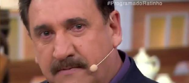 Ratinho chora no SBT - FOTO/REPRODUÇÃO