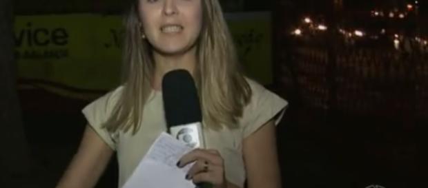 Repórter da Globo é assaltada e quase chora