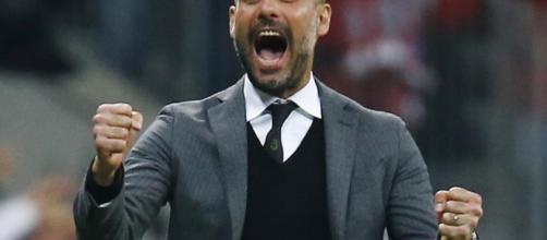 Pep Guardiola pasión y entrega en cada partido.