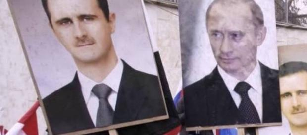 The Syrian war: Allies Bashar al-Assad and Vladimir Putin. Source: screencap via YouTube.