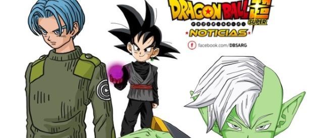 Un fan art de Goten como Black con Zamasu y Trunks agregados