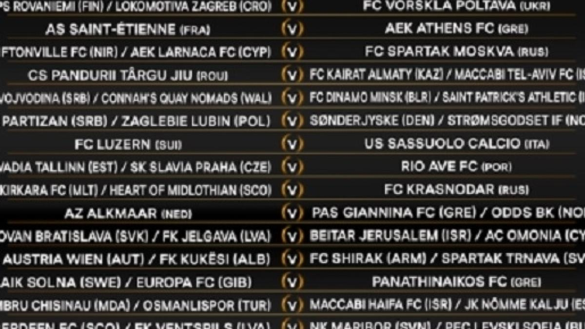 Calendario Preliminari Europa League.Calendario Europa League Preliminari Partite Sassuolo Date