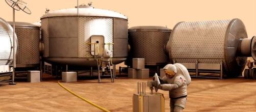 Future astronaut on Mars (NASA)