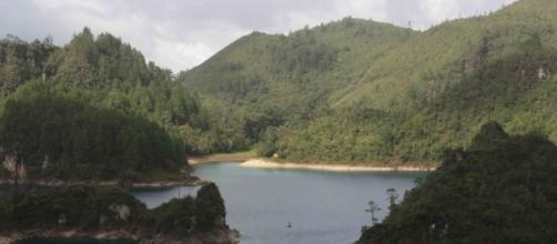 Los lagos de Montebello a 61 km de la Ciudad de Comitan, Chiapas