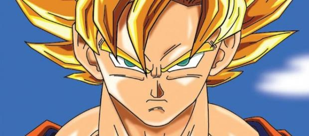 Goku a punto de pelear con Black