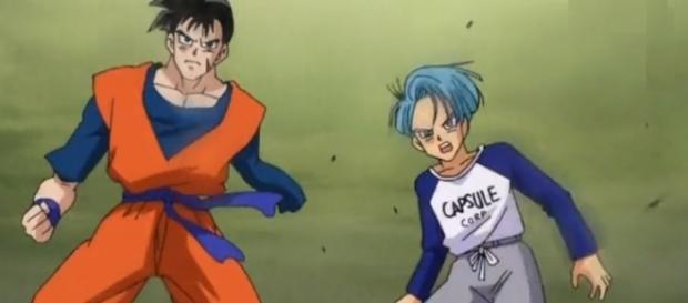 """Trunks in his two versions. """"Remembering and present Trunks"""" (Youtube)"""