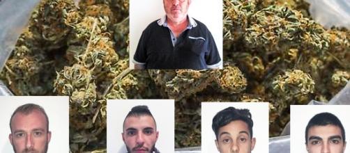 In alto Giampaolo Ibba. In basso da sinistra Massimo Arca, Dario Deriu, Alessio Manca e Alberto Piras.