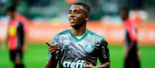 Gabriel Jesus, attaccante del Palmeiras che piace al Milan.