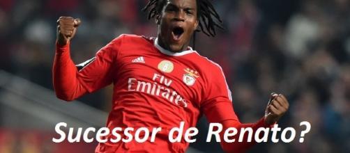 Renato Sanches ainda de águia ao peito