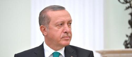 Un'immagine del premier della Turchia, Recep Tayyip Erdogan