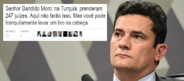 Sérgio Moro é ameaçado por petista