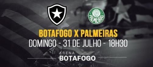 Botafogo x Palmeiras é jogo de alta rivalidade entre cariocas e paulistas