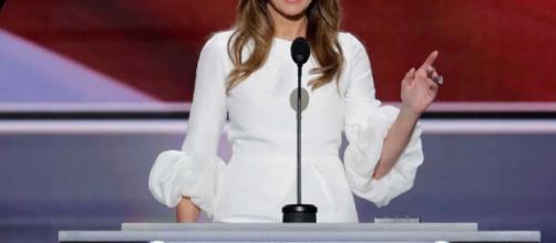 Melania Trump at the Republican Convention. Via stamfordadvocate.com