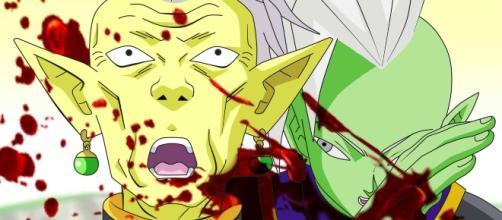 Zamasu Matando a su Maestro el Kaioshin Gowasu