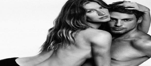 A 'Top model' Gisele Bündchen e Cauã Reymond juntos pela primeira vez, em ensaio fotográfico