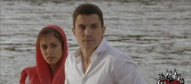 Fátima y Morey (Hiba Abouk y Álex González) en 'El Príncipe' /Mediaset España