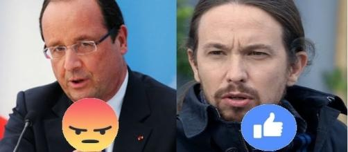 El presidente de Francia junto a Pablo