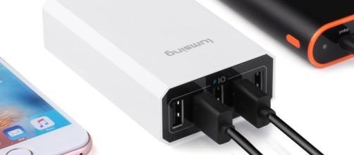 Lumsing Caricabatterie Portatile 40W 5-Porte USB
