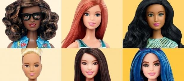 There are a bunch of new Barbies, from curvy to tall and petite/Photo via Time