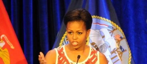 Michelle Obama en una intervención pública. Public Domain